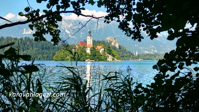 Bled lake, island ve castle