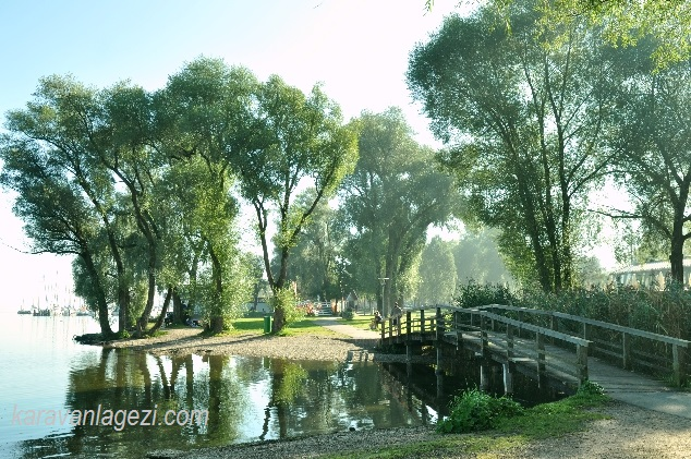 Chiemsee gölü köprü
