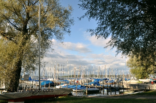 Chiemsee gölü, sonbahar