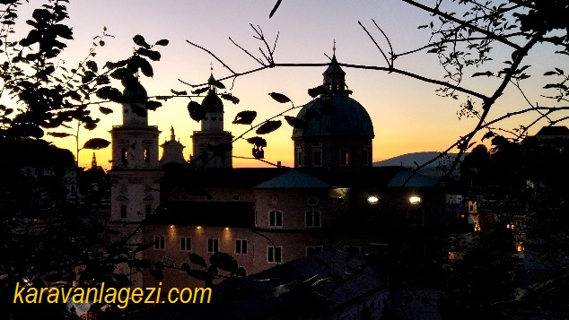Salzburg Kadetral, gün batımı
