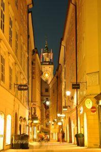 Salzburg eski şehir sokakları