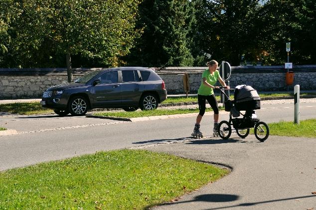 Füssen sporcu anne ve bebeği