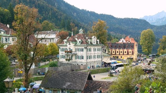 Hohenschwangau Şatosundan görünüm