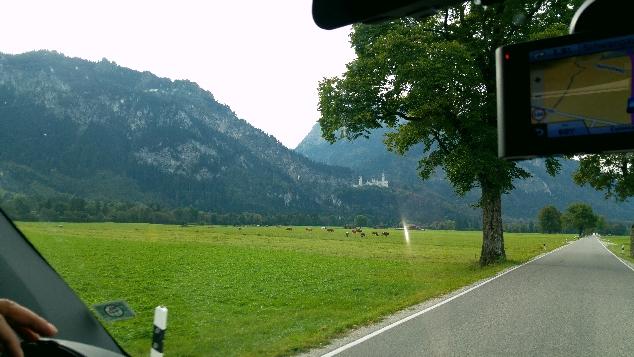 Neuschwanstein Şatosuna gidiş yolu
