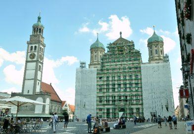 Augsburg Belediye binası. Perlachum